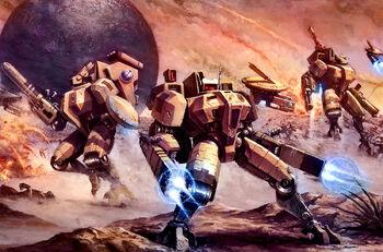 Battlesuits ready by majesticchicken-d33bobd