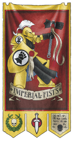 File:Company Banner of the Imperial Fists 3rd Company.png