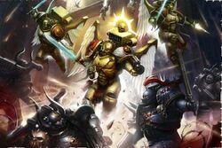 Sanguinary Guard vs. Chaos Marines