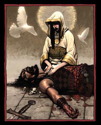 Shallyan priestess healing