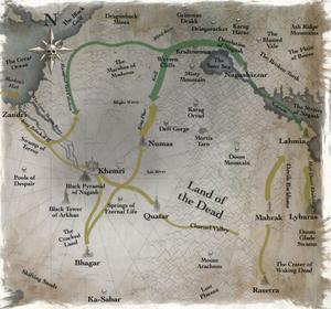 Warhammer Nehekhara Invasion Map