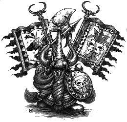 Zhatan the Black B&W Mark Gibbons Illustration