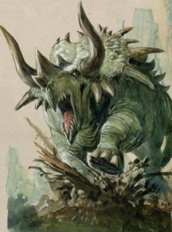 Warhammer Lizardmen Stegadon Art