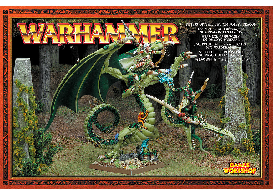 Image - Wood Elf - Sisters of Twilight on Forest Dragon (1