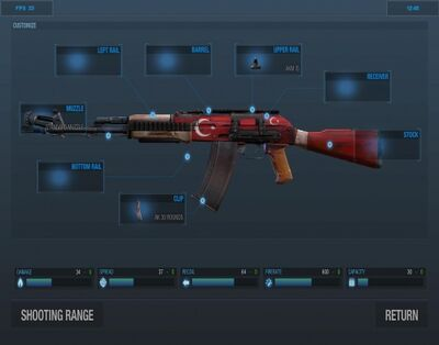 Akm turkey custom view
