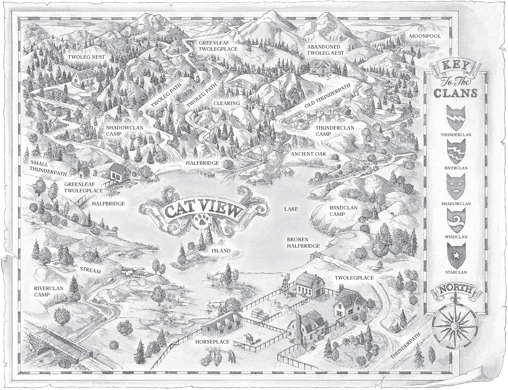 The Official Map For The Lake Territories, As Seen In The Reprinted Books