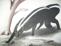 The giant skunk monster by twilightlanthe-d5hxffx