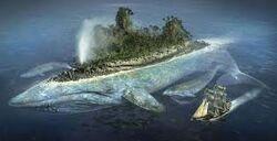 Zaratan island whale