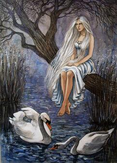 Swan maiden by liga marta-d2lll4x