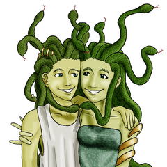 Ophicles and his fraternal twin sister, Ophimedusa...