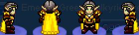 Char golden valkyrie dress