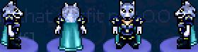Char white she-wolf