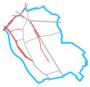 Schemat ścieżek rowerowych w Wawrze