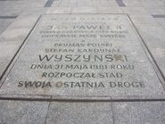 Tablica upamiętniająca JPII i Stefana Wyszyńskiego na Placu Piłsudsego