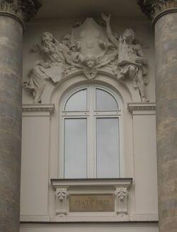 Plac Małachowskiego (nr 3, detal nad wejściem 2).JPG