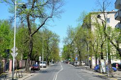Ulica Rozbrat na wysokości ul. Przemysłowej