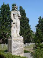 Pomnik rozstrzelanych w Wawrze monument lewy