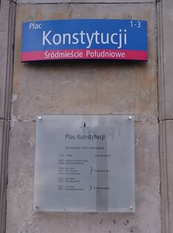 Plac Konstytucji (tablice MSI)
