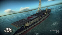 Japanese akagi class aircraft carrier