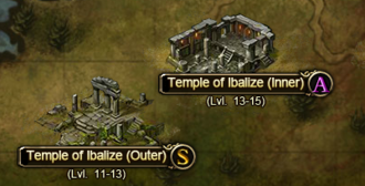 Temple of Ibalize dungeons