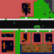 Needles downtown west map