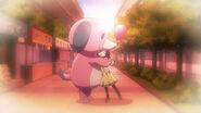 Megumi hugs Tomoko