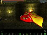 Red dragon sleeping