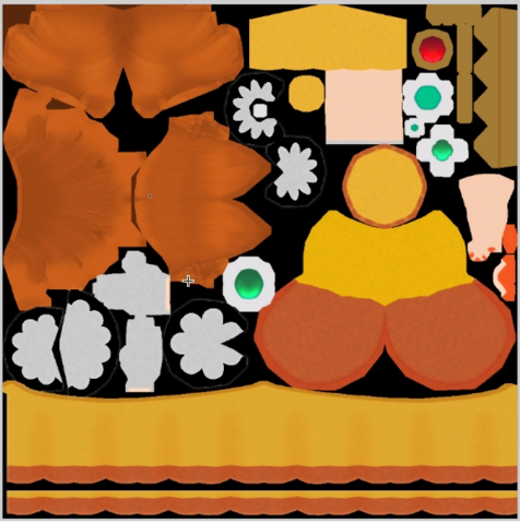 File:MK8 Daisy Texture.png
