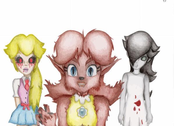 Daisy Rosalina and Peach halloween