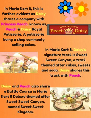 File:In Mario Kart 8, this is further evident as Daisy shares a company with Princess Peach, known as, Peach & Daisy Royal Patisserie. A patisserie being a sh0p, commonly selling cakes. (3).jpg