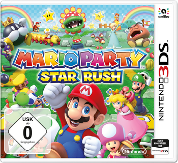 Mario party star rush box art