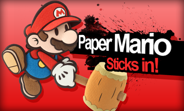 File:Paper mario in super smash bros by icequix-d69rmj8.png