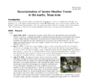 Documentation of Severe Weather Events in the Austin, Texas Area in 2010