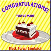 Black forest sandwich