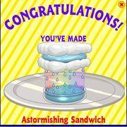 Astormishing sandwich