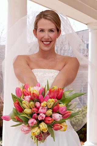 File:Denver Florists, spring wedding bouquet, colorful.jpg