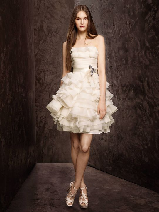 Image - 1-new-white-by-vera-wang-short-wedding-dresses-davids ...