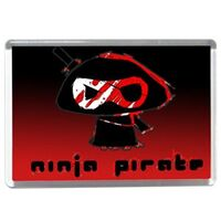 Chris The Ninja Pirate Fridge Magnet