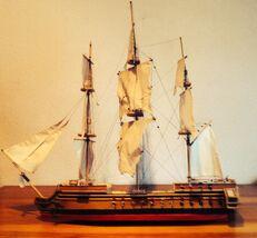 Modell eines spanisches Schiffes