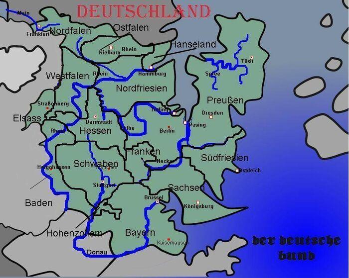 Deutschland Städte+Flüsse+Länder Benamst