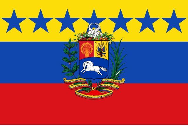 Datei:VenezuelaFlaggemitWappen.jpg