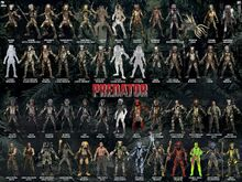 Range of Predator action figures