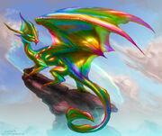 Prismatic Dragon by mariecannabis-1-