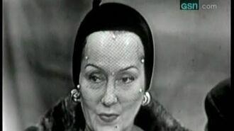 What's My Line? - Bennett Cerf's first show! - Gloria Swanson (Oct 15, 1950)