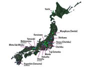 Map of Japanese Distilleries