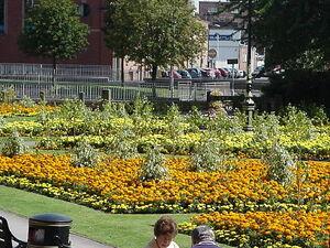 Queens gardens newcastle under lyme