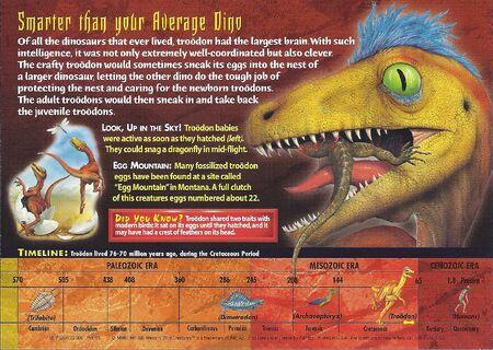 Troodon back