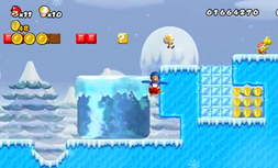NSMB Wii Moving Ice Block