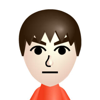 The default male Mii.
