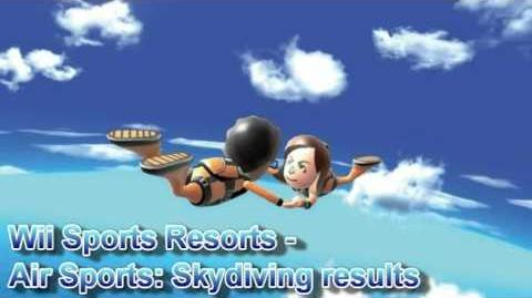 Wii Sports Resort - Air Sports Skydiving Results Theme